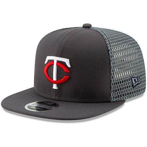 Men's New Era Graphite Minnesota Twins Mesh Fresh 9FIFTY Adjustable Snapback Hat