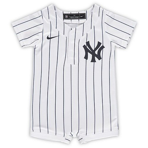 Newborn & Infant Nike White New York Yankees Official Jersey Romper