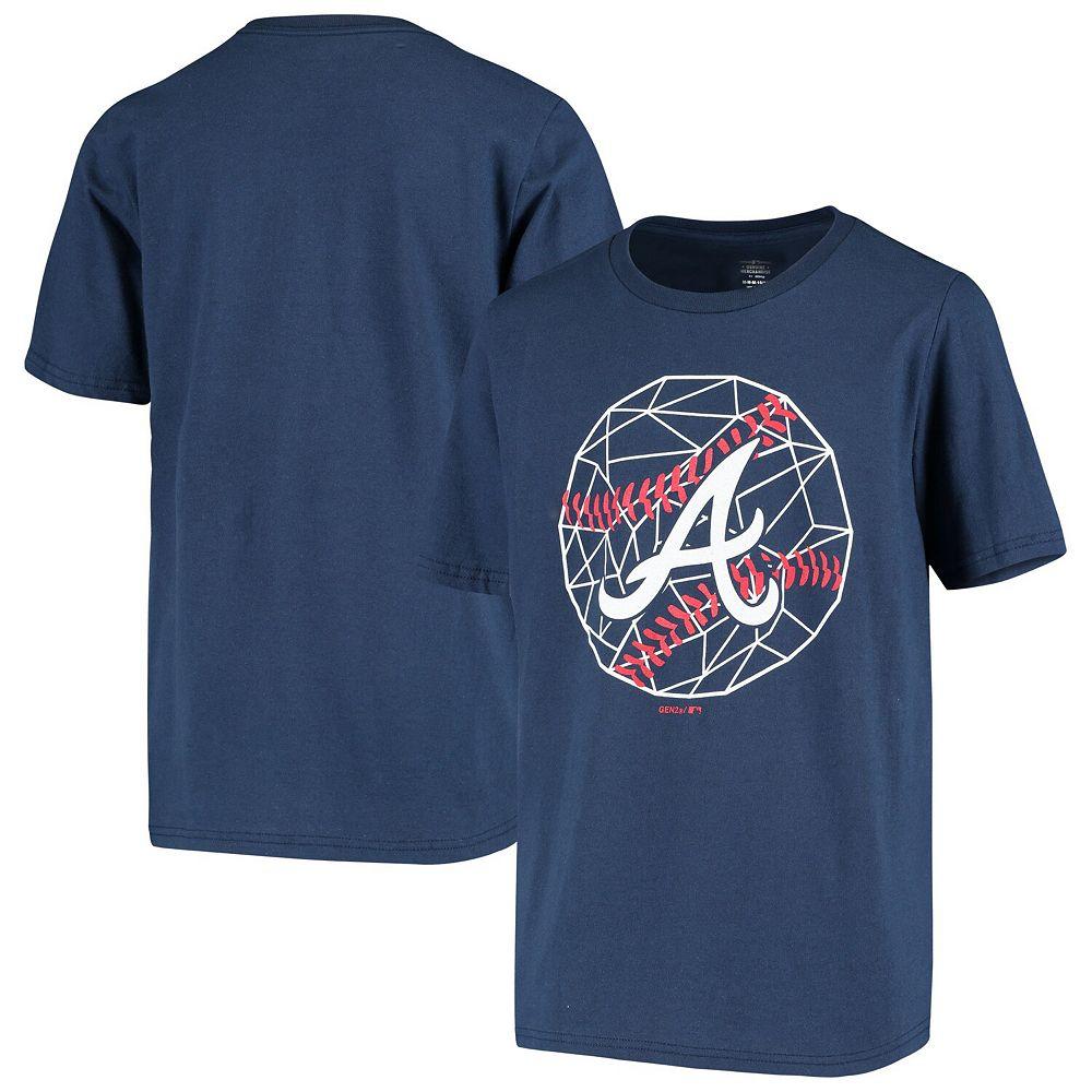 Youth Navy Atlanta Braves Digi-Ball T-Shirt