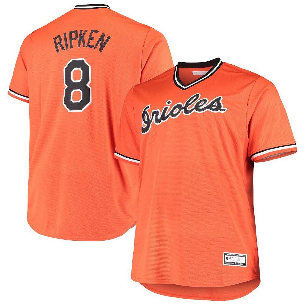 Men's Cal Ripken Jr. Orange Baltimore Orioles Alternate Cooperstown Collection Replica Player Jersey