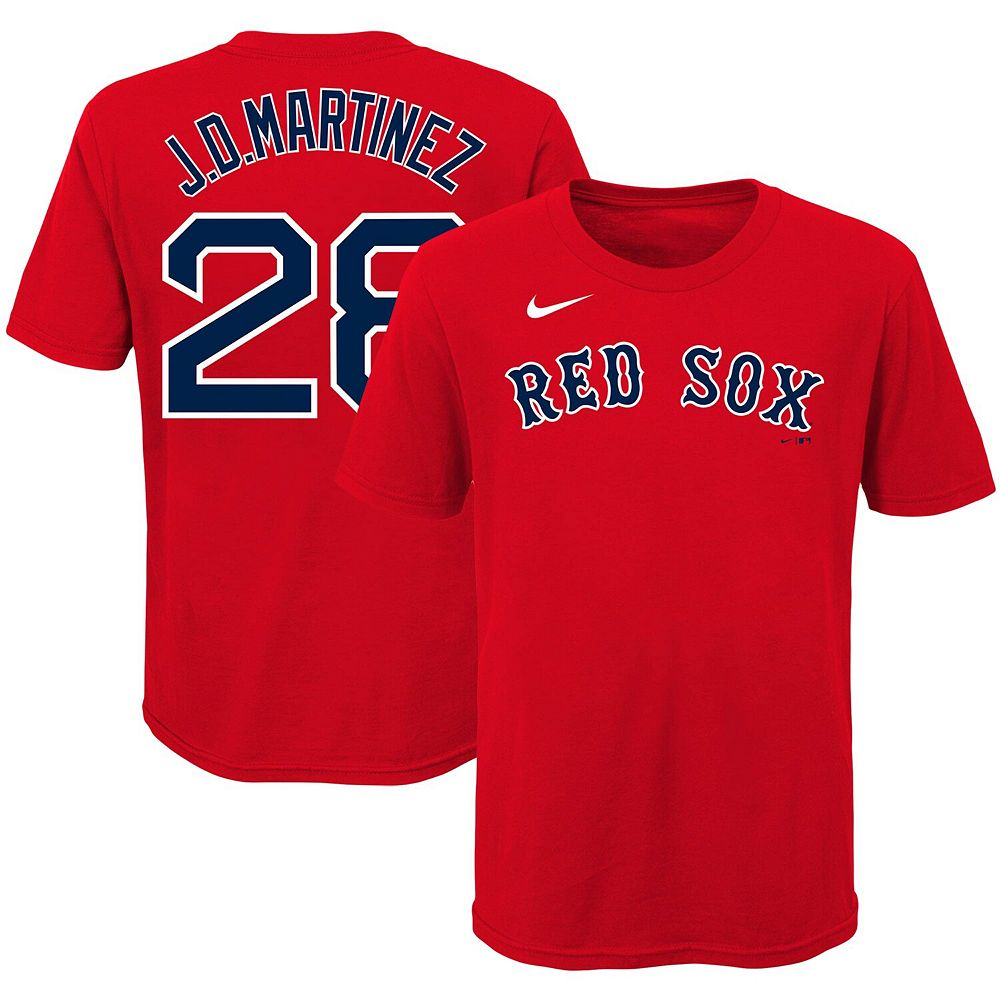 Youth Nike J.D. Martinez Red Boston Red Sox Player Name & Number T-Shirt