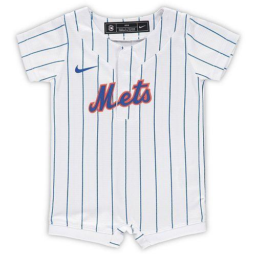 Newborn & Infant Nike White New York Mets Official Jersey Romper