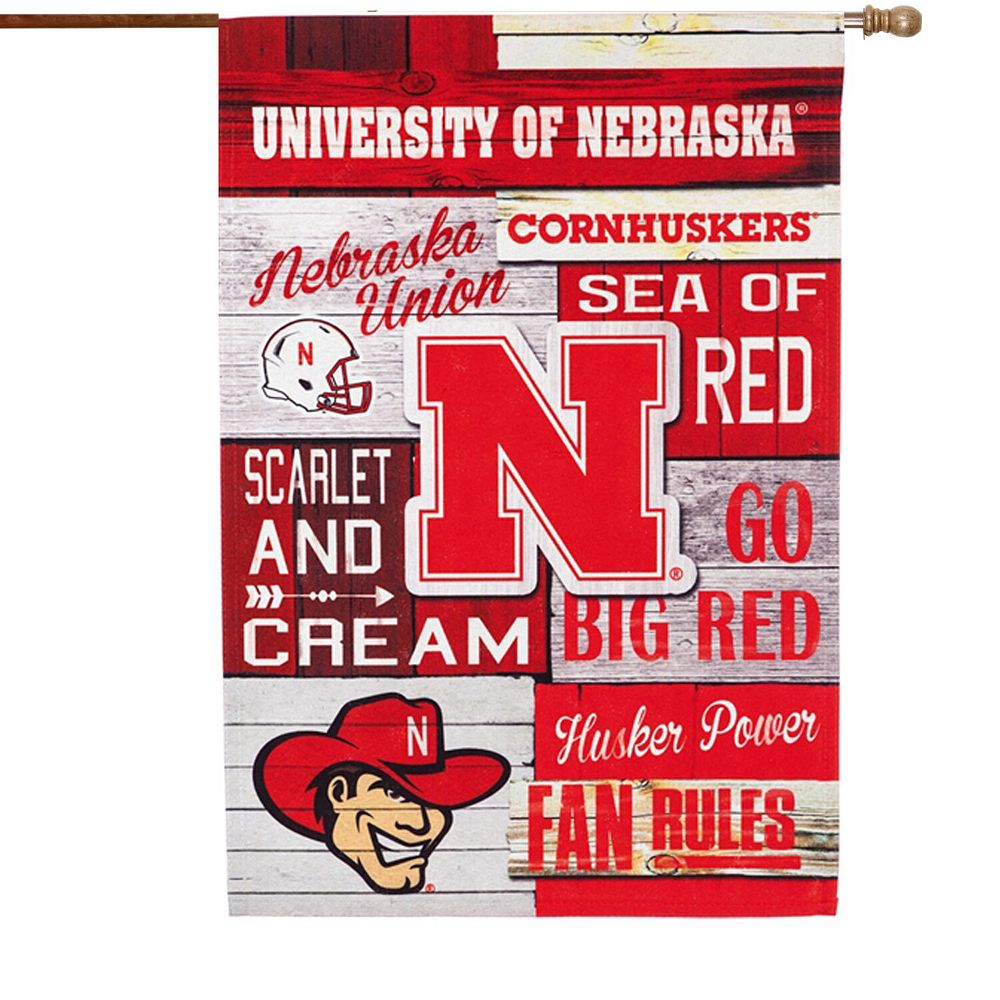 Nebraska Cornhuskers Fan Rules Linen House Flag