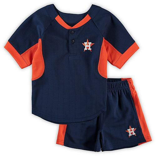 Toddler Navy Houston Astros The Windup T-Shirt & Shorts Set