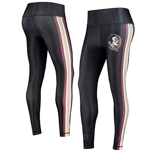 Women's Concepts Sport Black/Gold Florida State Seminoles Java Side Stripe Leggings