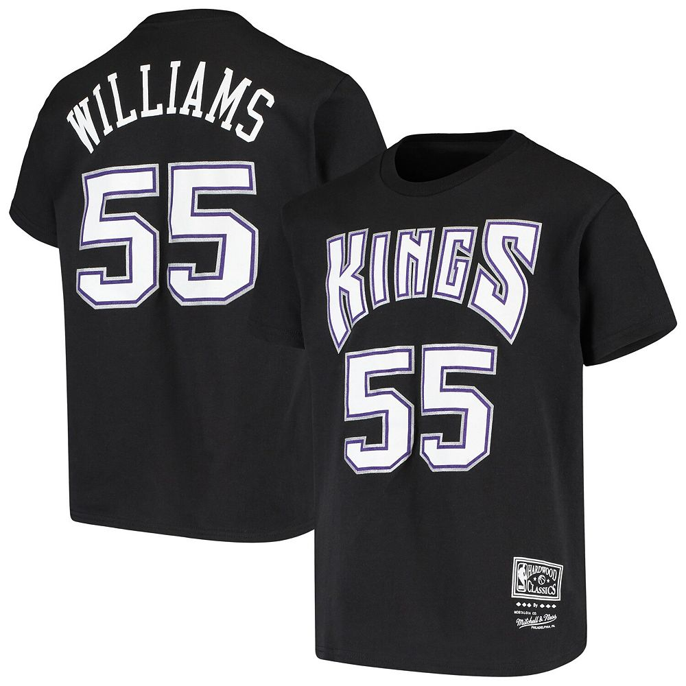 Youth Jason Williams Black Sacramento Kings Hardwood Classics Name & Number T-Shirt