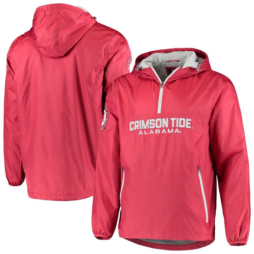 Men's G-III Sports by Carl Banks Crimson Alabama Crimson Tide Base Runner Half-Zip Hoodie Jacket