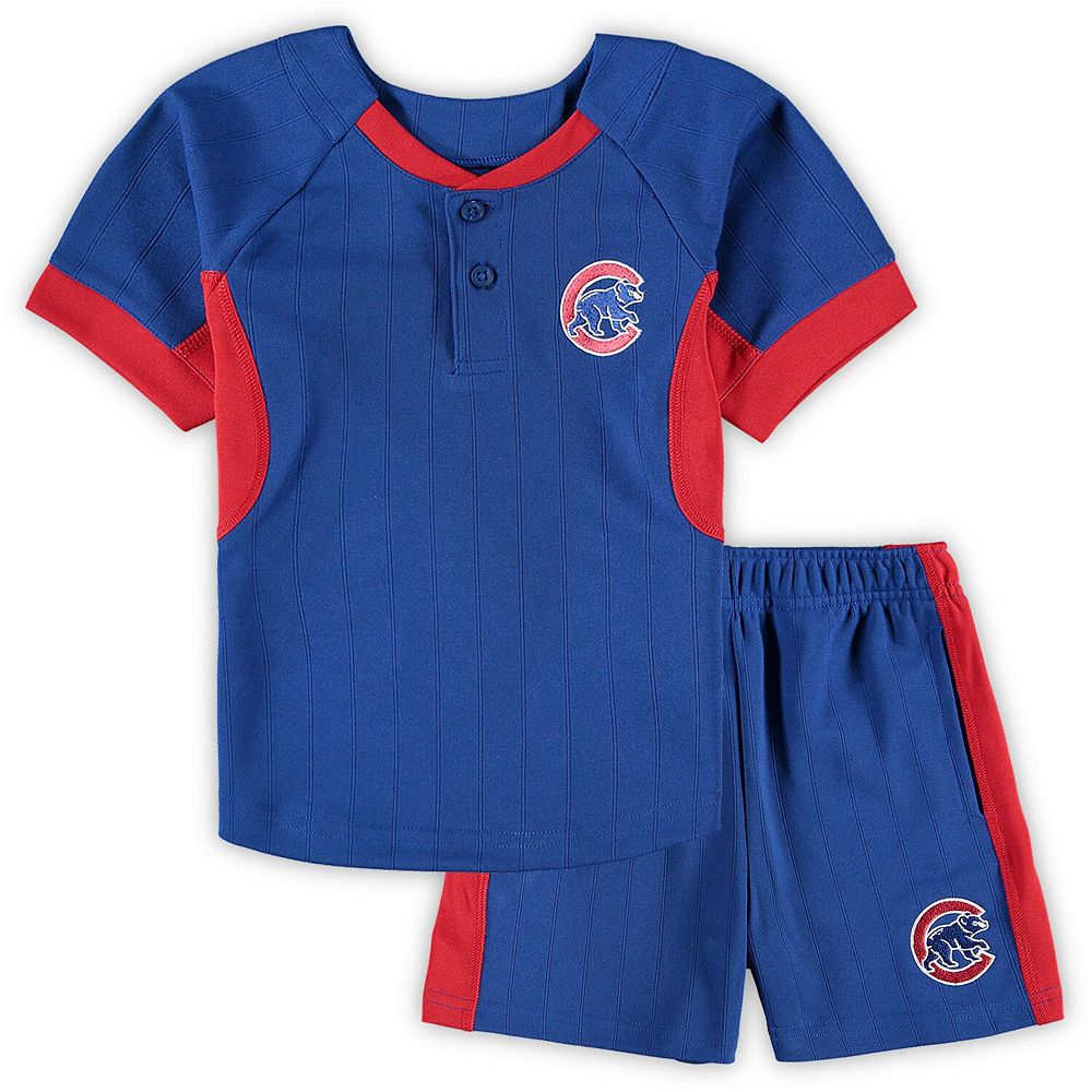 Toddler Royal Chicago Cubs The Windup T-Shirt & Shorts Set