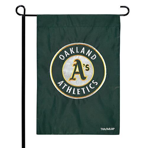 "Oakland Athletics 12.5"" x 19"" Applique Double-Sided Garden Flag"