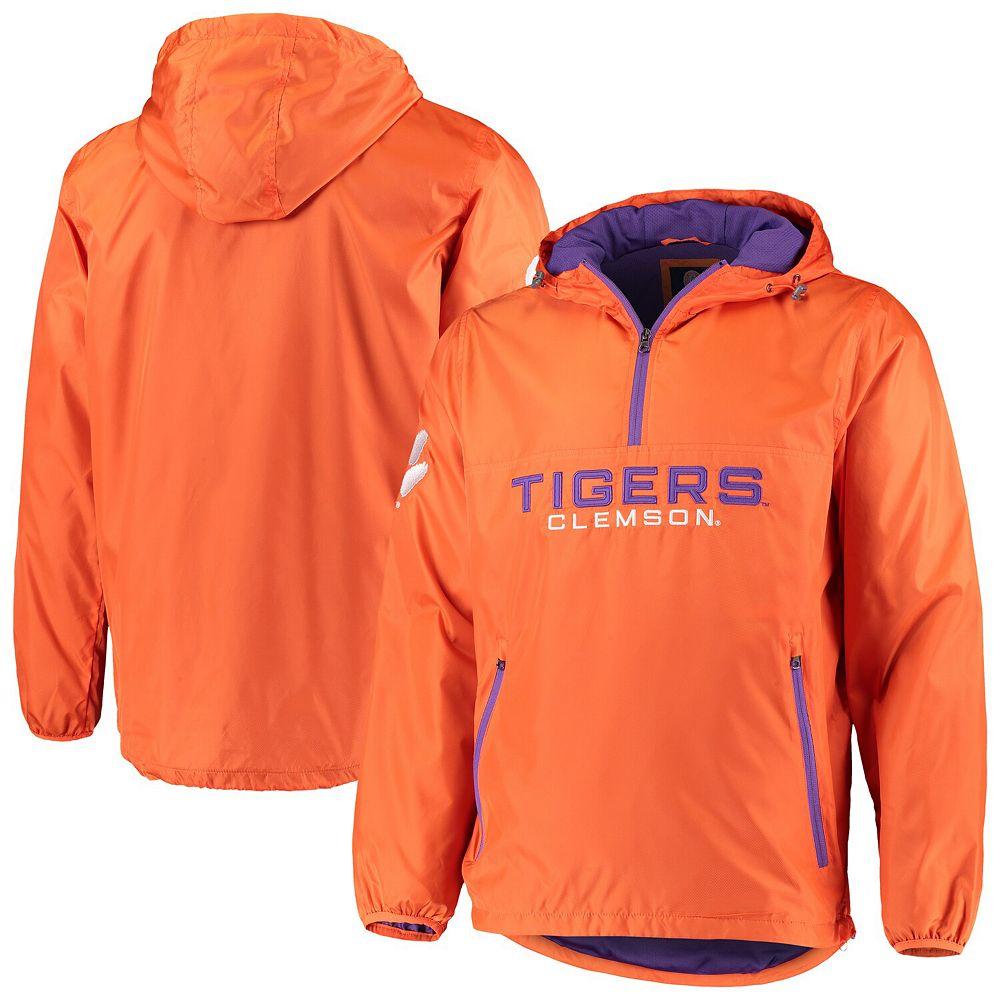 Men's G-III Sports by Carl Banks Orange Clemson Tigers Base Runner Half-Zip Hoodie Jacket