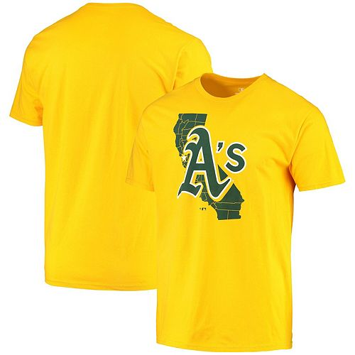 Men's Fanatics Branded Gold Oakland Athletics The Big O Long Sleeve T-Shirt