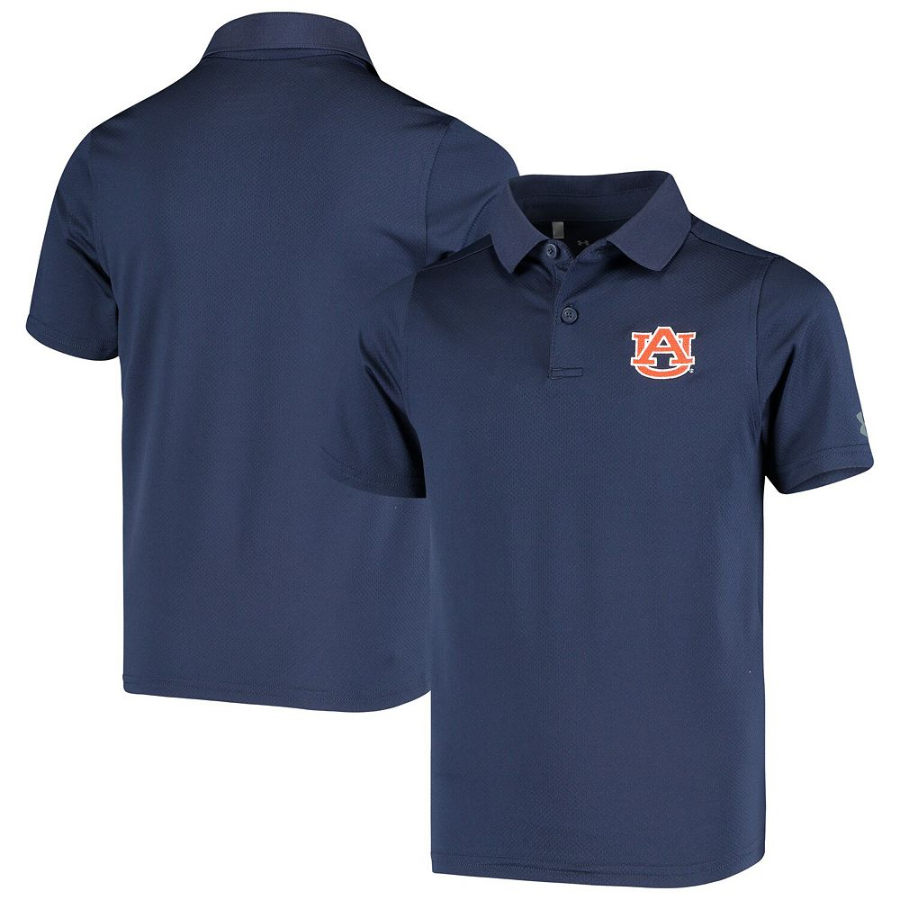 Youth Under Armour Navy Auburn Tigers Performance Polo