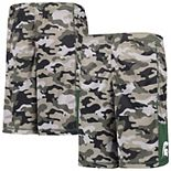 Youth Gray/Green Michigan State Spartans Extra Yardage Camo Shorts