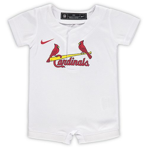Newborn & Infant Nike White St. Louis Cardinals Official Jersey Romper