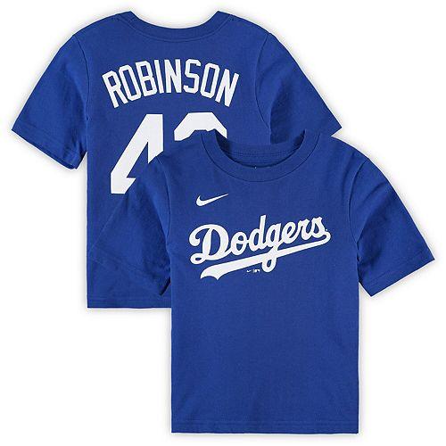 Preschool Nike Jackie Robinson Royal Los Angeles Dodgers Player Name & Number T-Shirt