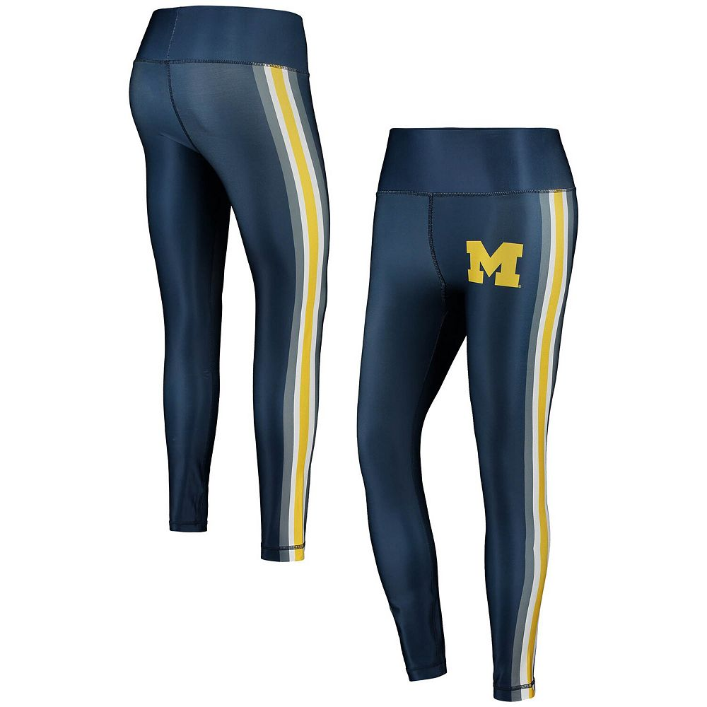 Women's Concepts Sport Navy/Maize Michigan Wolverines Java Side Stripe Leggings