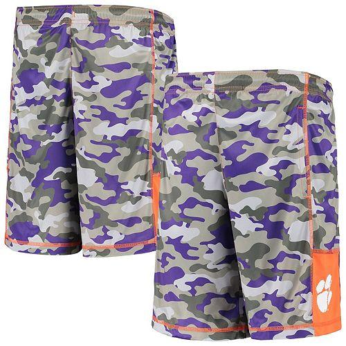 Youth Gray/Orange Clemson Tigers Extra Yardage Camo Shorts