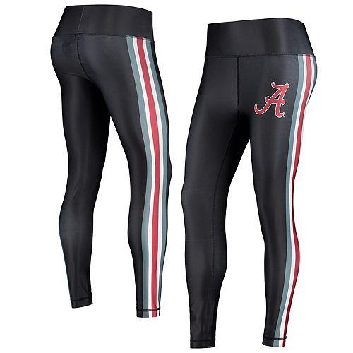 Women's Concepts Sport Black/Crimson Alabama Crimson Tide Java Side Stripe Leggings