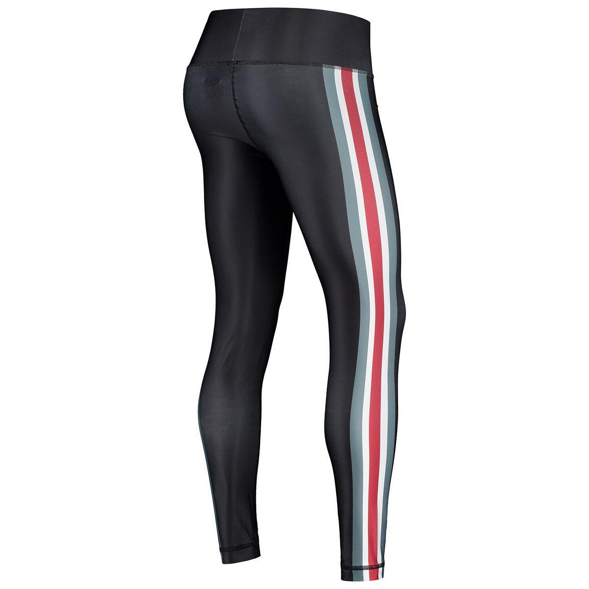Women's Concepts Sport Black/Crimson Alabama Crimson Tide Java Side Stripe Leggings K2Xhx