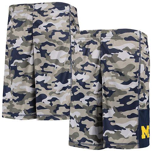 Youth Gray/Navy Michigan Wolverines Extra Yardage Camo Shorts