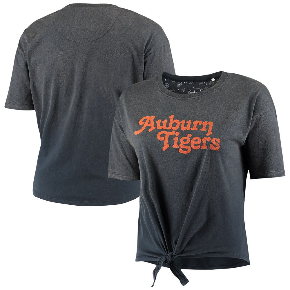 Women's Plus Size Pressbox Navy Auburn Tigers California Dreamin' Ombre Tie T-Shirt