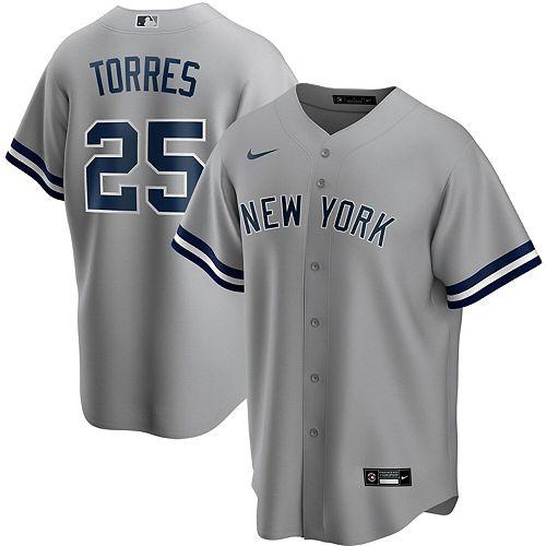 Men's Nike Gleyber Torres Gray New York Yankees Road 2020 Replica Player Name Jersey