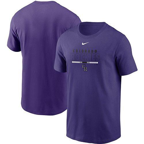 Men's Nike Purple Colorado Rockies Color Bar T-Shirt