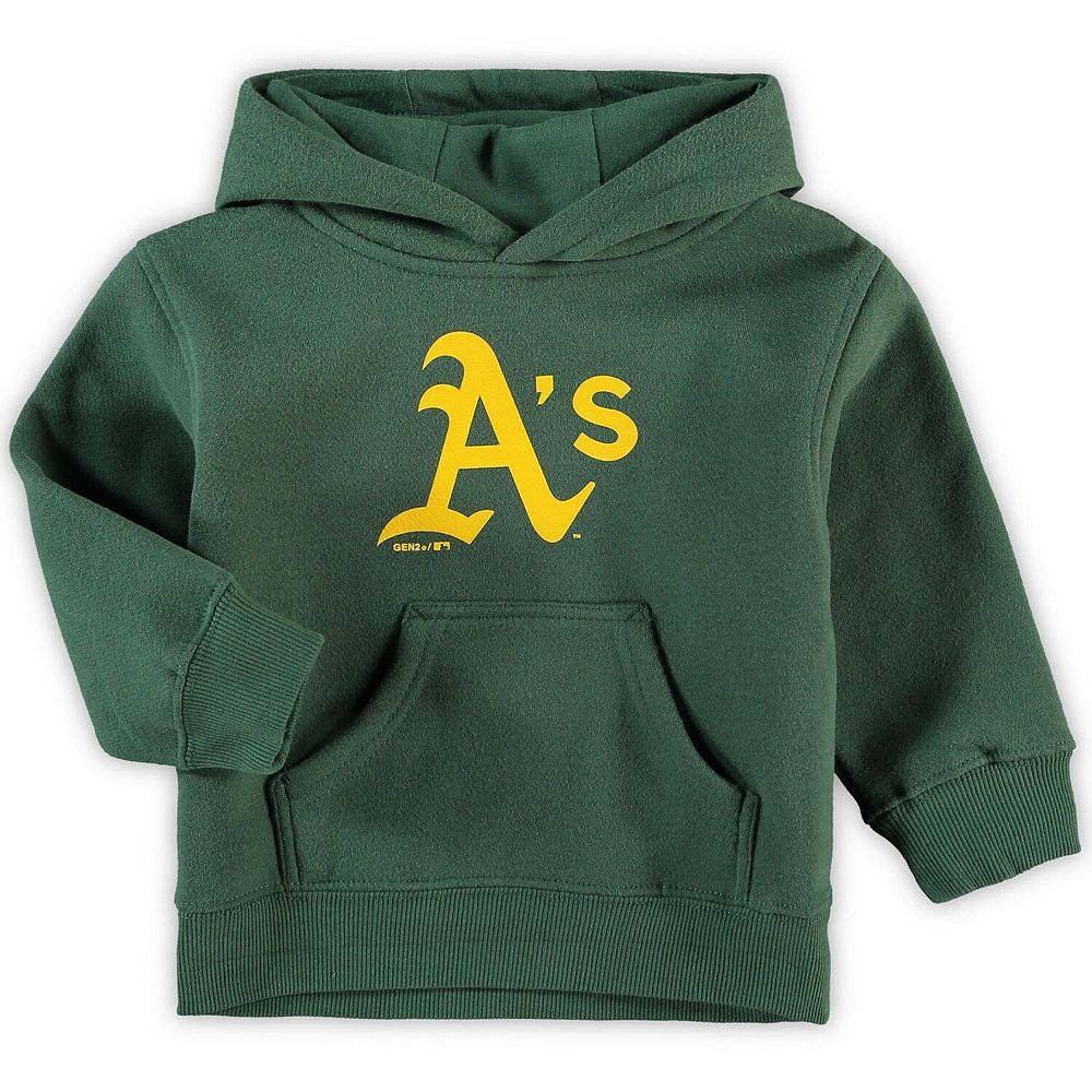 Toddler Green Oakland Athletics Primary Logo Team Pullover Hoodie