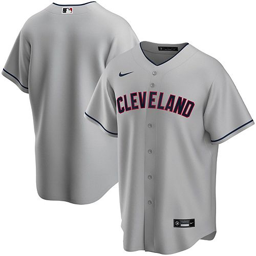 Men's Nike Gray Cleveland Indians Road 2020 Replica Team Jersey