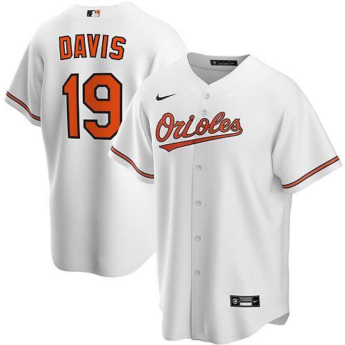 Men's Nike Chris Davis White Baltimore Orioles Home 2020 Replica Player Jersey