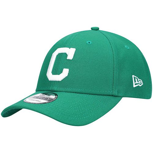 Men's New Era Green Cleveland Indians St. Patrick's League 9FORTY Adjustable Hat