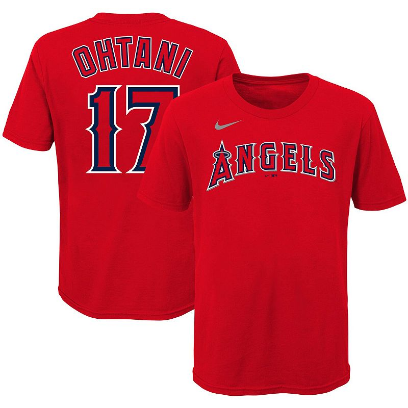 Youth Nike Shohei Ohtani Red Los Angeles Angels Player Name & Number T-Shirt, Boy's, Size: YTH Medium