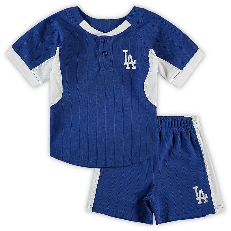 Toddler Royal Los Angeles Dodgers The Windup T-Shirt & Shorts Set, Toddler Unisex, Size: 2T, Blue