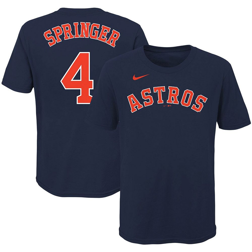 Youth Nike George Springer Navy Houston Astros Player Name & Number T-Shirt