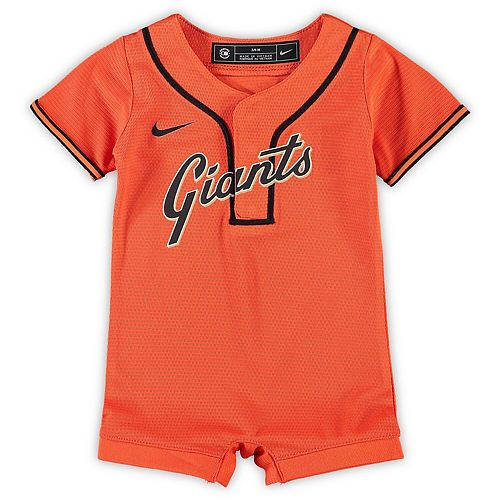 Newborn & Infant Nike Orange San Francisco Giants Official Jersey Romper