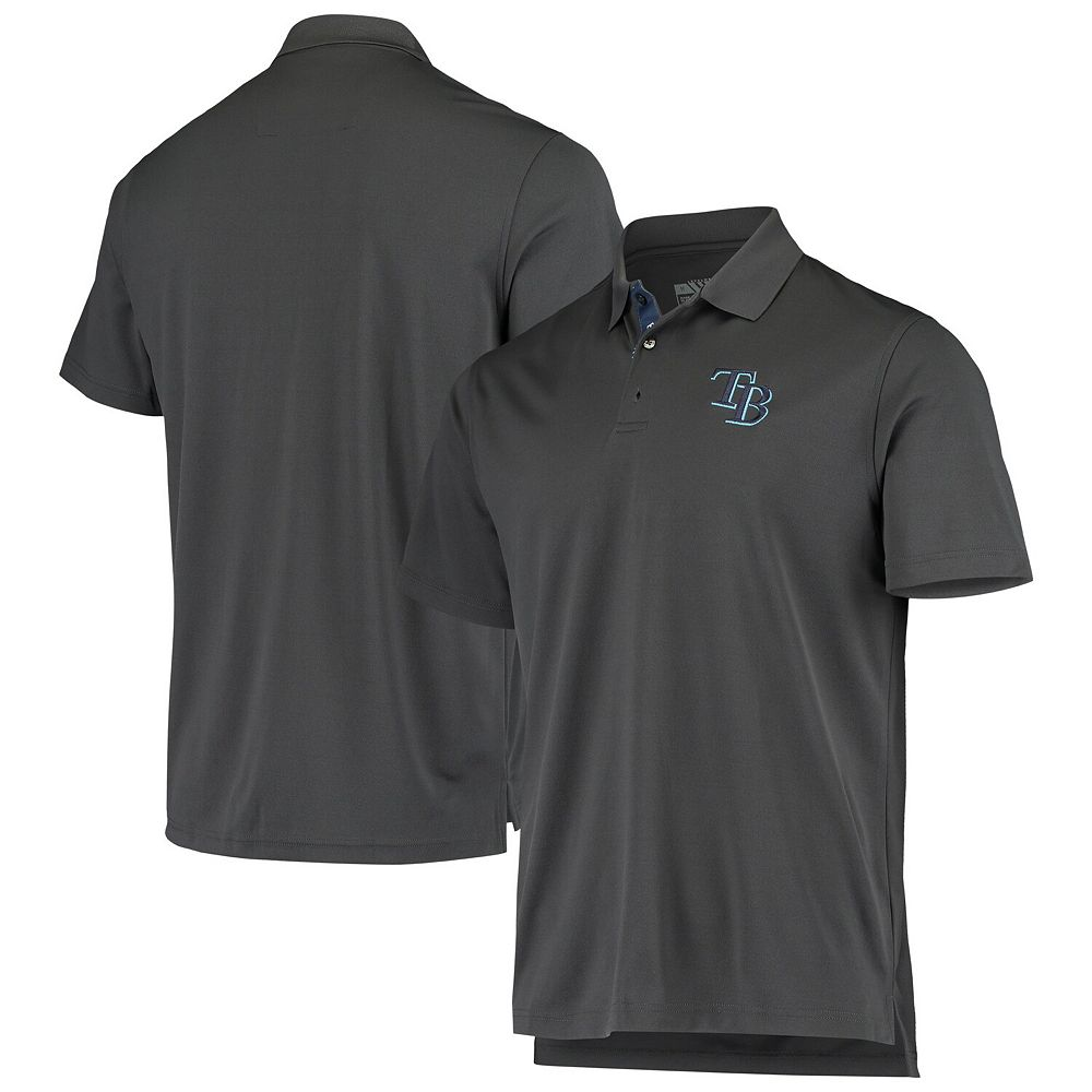 Men's Levelwear Charcoal Tampa Bay Rays Omaha 2-Hit Polo