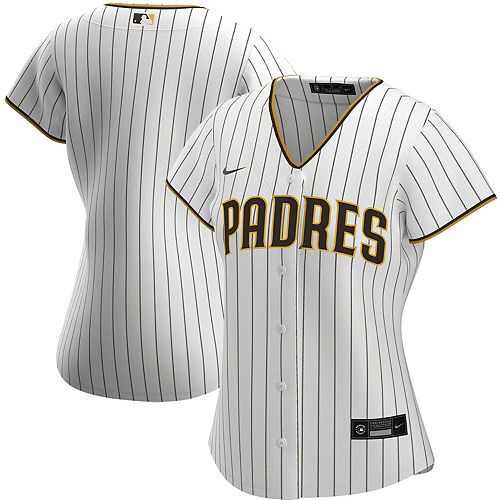 Women's Nike White/Brown San Diego Padres Home 2020 Replica Team Jersey
