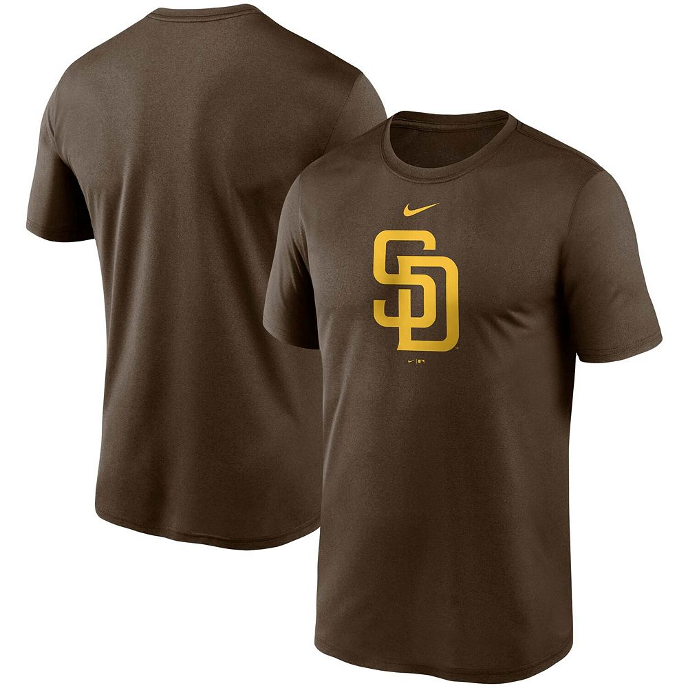 Men's Nike Brown San Diego Padres Large Logo Legend Performance T-Shirt