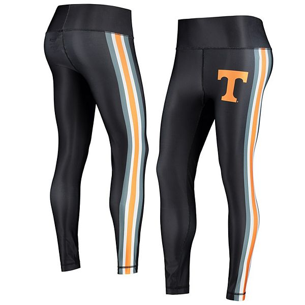 Women's Concepts Sport Black/Tennessee Orange Tennessee Volunteers Java Side Stripe Leggings