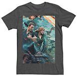 Men's Jurassic World Two Owen Claire Movie Poster Tee