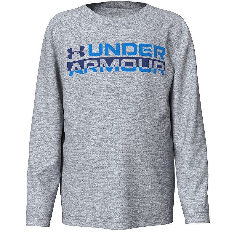 Boys 4-7 Under Armour UA Signature Wordmark Twist Tee, Boy's, Light Grey
