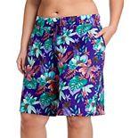 Plus Size Jockey® Print Sleep Bermuda Shorts