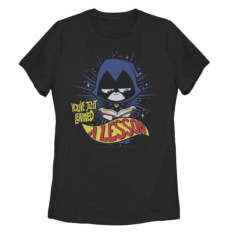 "Juniors' DC Comics Teen Titans Go! Raven ""Learned A Lesson"" Graphic Tee, Girl's, Size: XXL, Black"