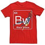 Men's Marvel Avengers Black Widow Element Tee