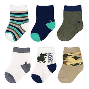 Baby Boy / Toddler Boy Jumping Beans® 6-pk. Dino Crew Socks