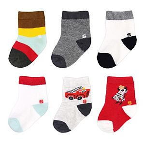 Baby Boy / Toddler Boy Jumping Beans® 6-pk. Rescue Crew Socks