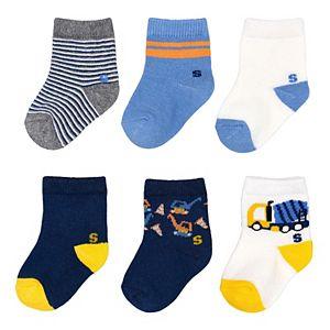 Baby Boy / Toddler Boy Jumping Beans® 6-pk. Construction Crew Socks