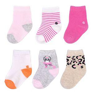 Baby Girl / Toddler Girl Jumping Beans® 6-pk. Ballet Sock Set