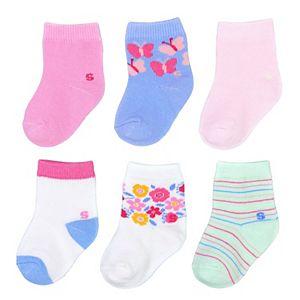 Baby Girl / Toddler Girl Jumping Beans® 6-pk. Garden Crew Socks