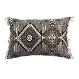 Tempo Home Idris Textured Blue Oblong Throw Pillow